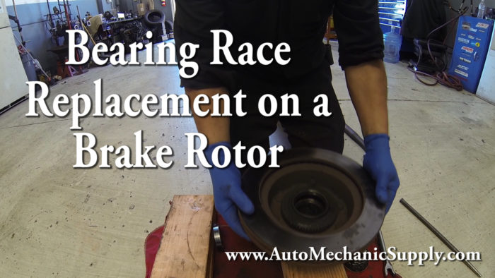How to replace bearing races on a rotor